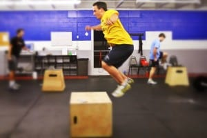New member Andrew giving box jumps a shot.