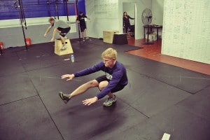 Pistol squats: first try and he's got it down - Cody