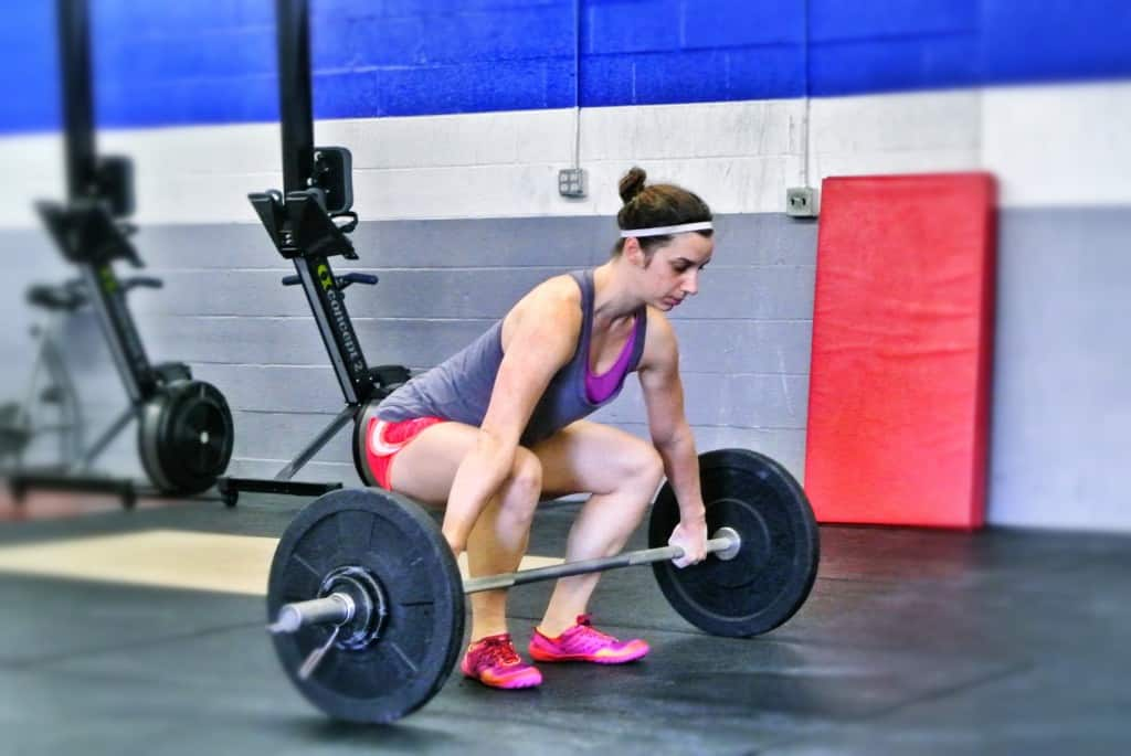 Whitney with a good looking snatch set up