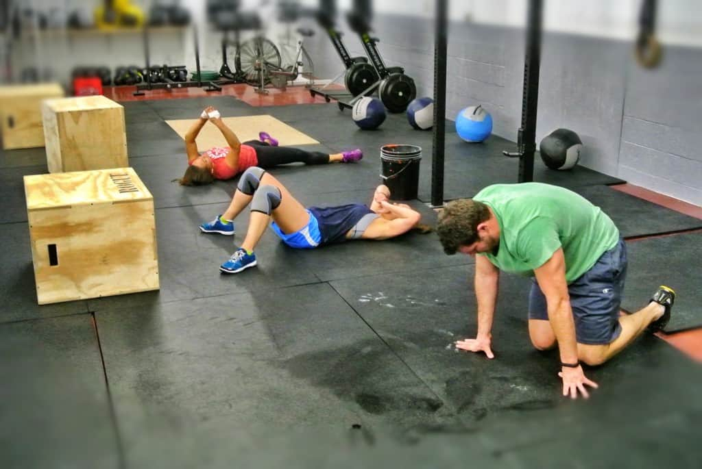 Evidence of a good WOD. Joe, Jamie and Katelyn