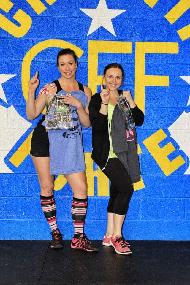 Congrats to Erin M and Sarah for placing first in the Movember WOD in the Rx female position