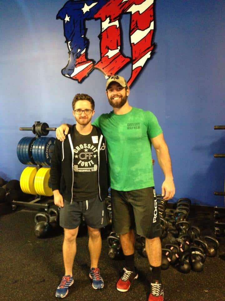 Clyde and The Fittest Man on Earth, Rich Froning at the Level 1 Seminar in Cookeville, TN