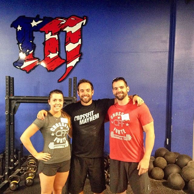 Kenzie and Wes making a Rich Froning sandwich. Congratulations to Wes and Kenzie for CrossFit L1 this past weekend!