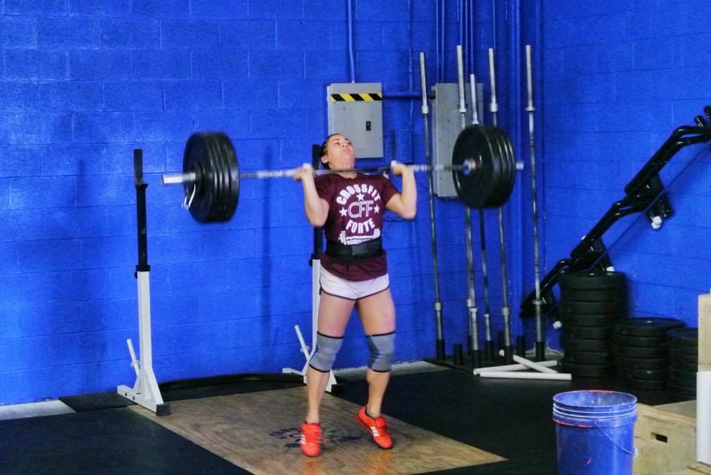 Katelyn during the drive of the Split Jerk