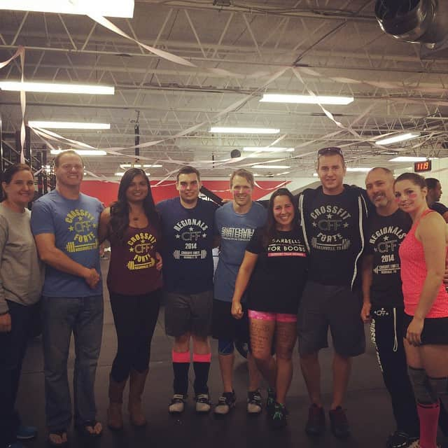 Rae, Snow, Jeff and Larry and the rest of the gang at Barbell for Boobs