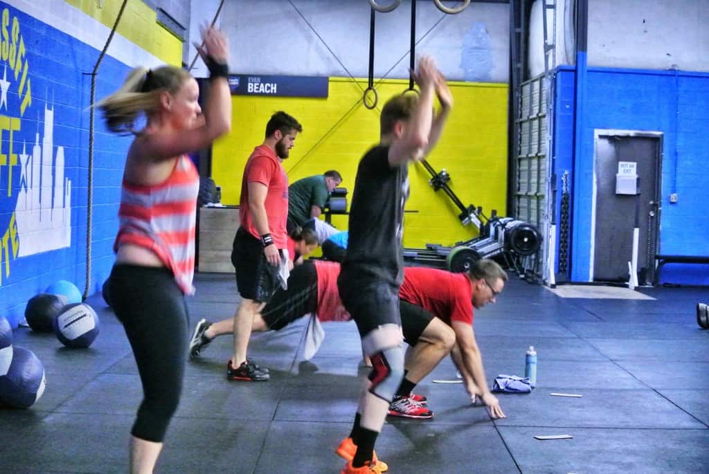 Burpees in action
