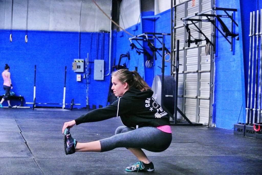 Alicia doing a pistol squat