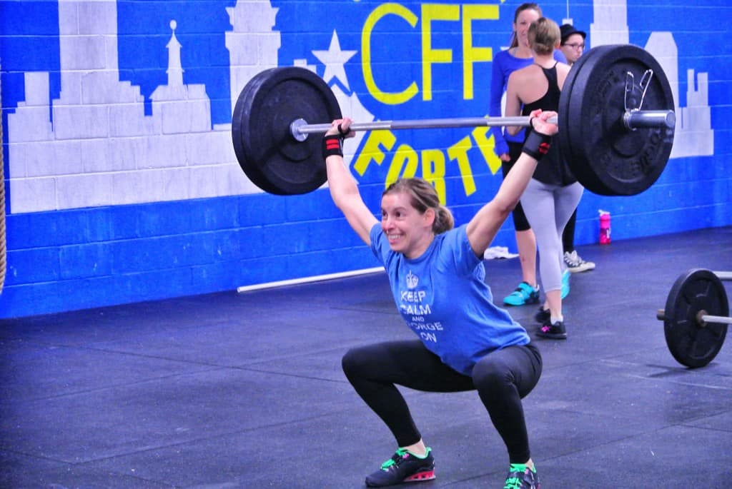 Kari REALLY likes overhead squats