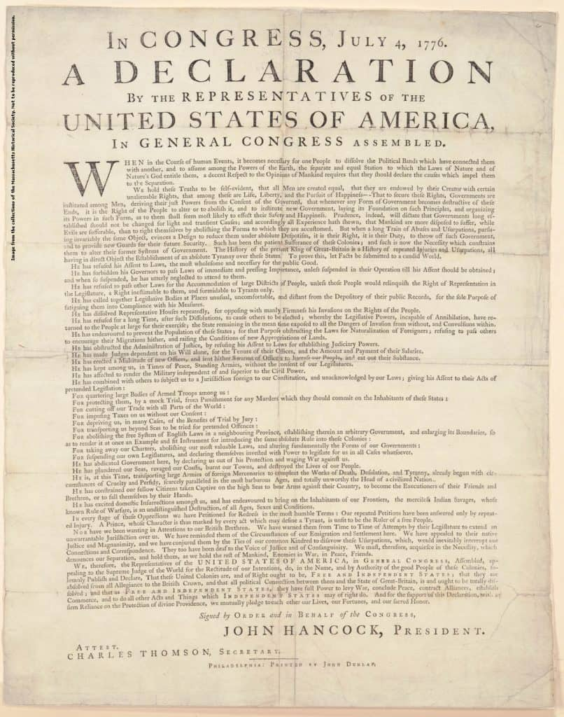 Declaration of ind