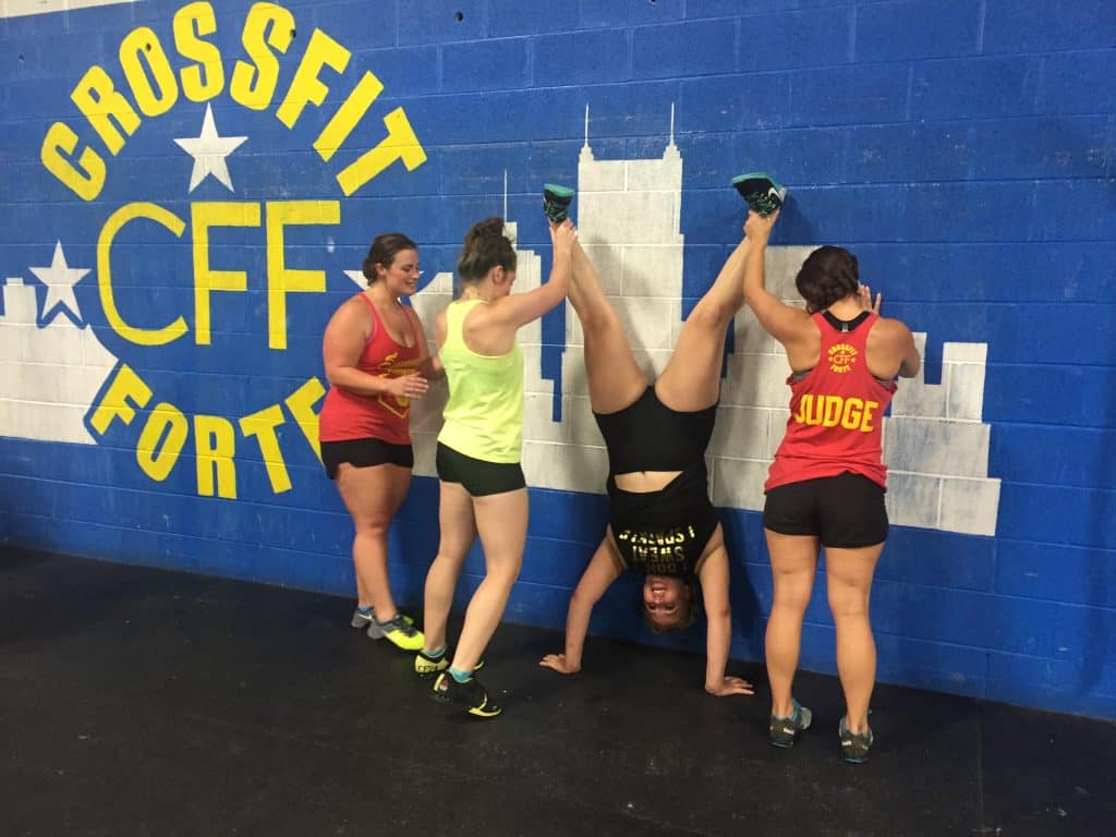 Congrats to Natalicia for winning the handstand pic contest and hat tip to her buddies for lending her a hand ;)